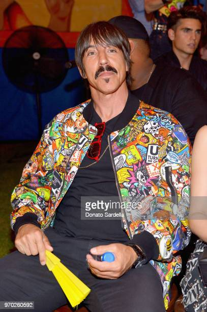 Anthony Kiedis attends the Moschino Spring/Summer 19 Menswear and Women's Resort Collection at Los Angeles Equestrian Center on June 8 2018 in...