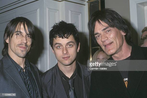 Anthony Kiedis, Billy Joe, and Dee Dee Ramone during 17th Annual Rock and Roll Hall of Fame Induction After Party at Waldorf Astoria Hotel in New...