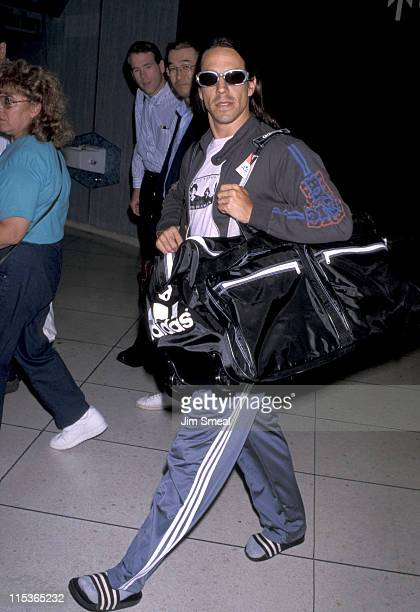 Anthony Kiedis during Anthony Kiedis Arriving at Los Angeles International Airport September 14 1998 at International Airport in Los Angeles...