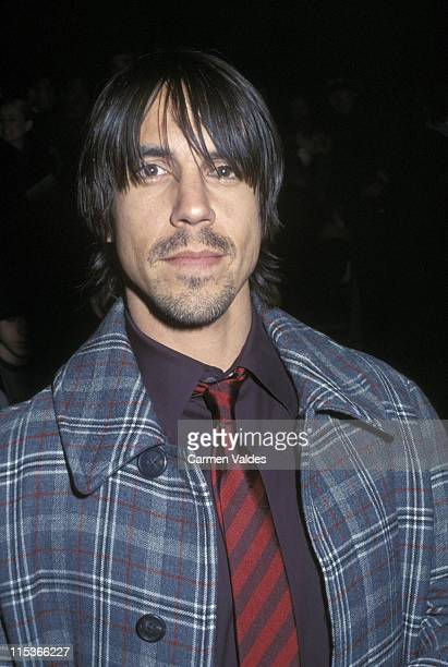 Anthony Kiedis during Fashion Week Marc Jacobs 2002 Fall Collection at New York State Armory in New York City New York United States