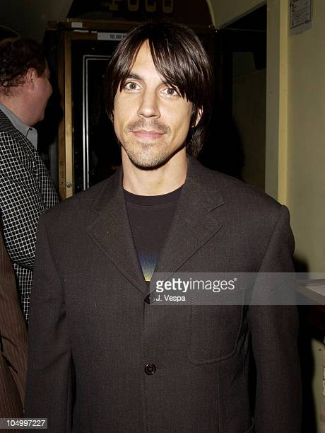 Anthony Kiedis during Los Angeles Fashion Week Frederick's of Hollywood Fall 2002 Collection at Star Shoes in Los Angeles California United States