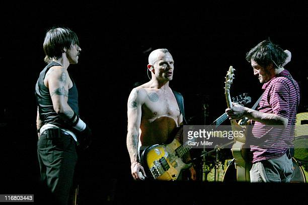 Anthony Kiedis, Flea and John Frusciante of Red Hot Chili Peppers