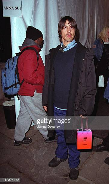 Anthony Kiedis from The Red Hot Chili Peppers during Anthony Kiedis Sighting at the 2002 New York Fall Fashion Shows at Bryant Park in New York New...