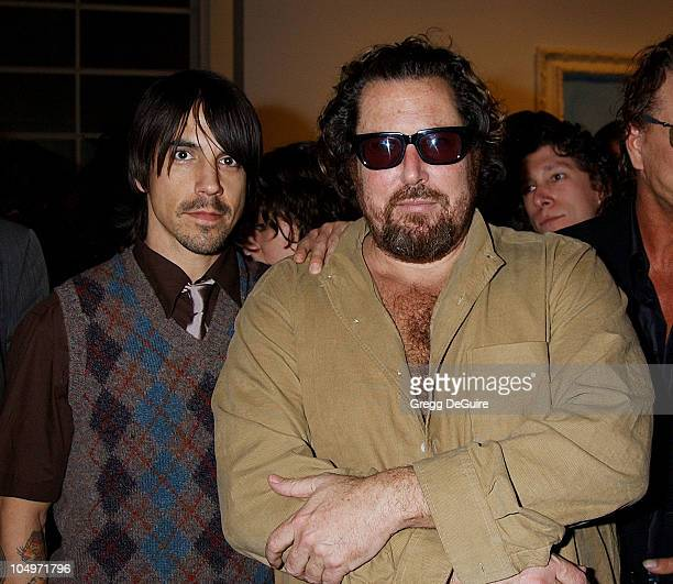 Anthony Kiedis Julian Schnabel during Julian Schnabel Big Girl Paintings Exhibition at The Gagosian Gallery in Beverly Hills California United States