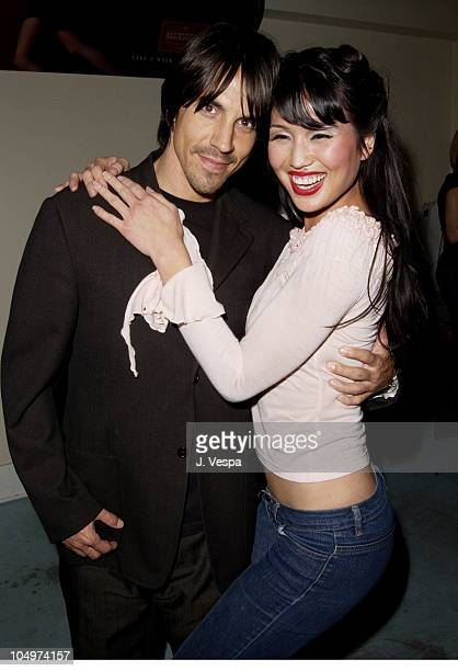 Anthony Kiedis Lola Corwin during Los Angeles Fashion Week Frederick's of Hollywood Fall 2002 Collection at Star Shoes in Los Angeles California...