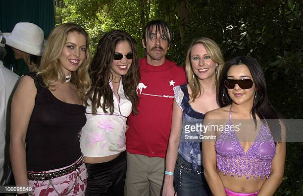 Anthony Kiedis of Red Hot Chili Peppers Bond during A Time for Heroes Benefit for the Elizabeth Glaser Pediatric AIDS Foundation 2001 in Los Angeles...