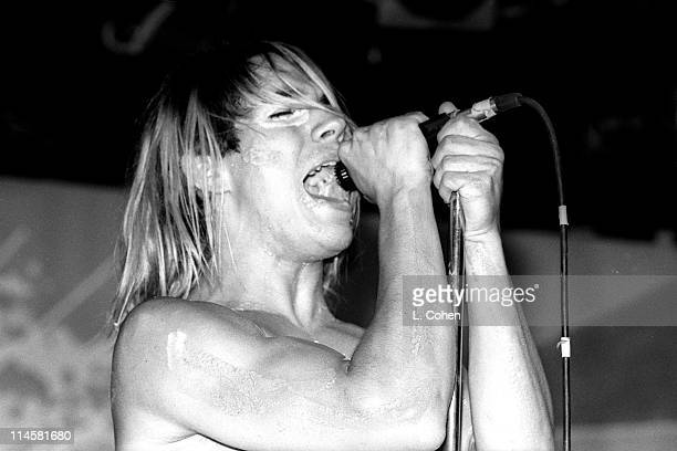Anthony Kiedis of Red Hot Chili Peppers during Red Hot Chili Peppers at The Roxy 1984 at Roxy in Los Angeles California United States
