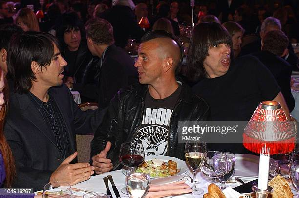 Anthony Kiedis of Red Hot Chili Peppers Eddie Vedder of Pearl Jam and Johnny Ramone of The Ramones