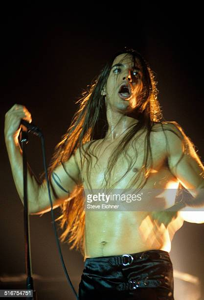 Anthony Kiedis of Red Hot Chili Peppers performs at Roseland Ballroom New York August 19 1994