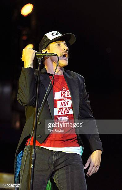 Anthony Kiedis of Red Hot Chili Peppers performs at Tampa Bay Times Forum on March 29, 2012 in Tampa, Florida.
