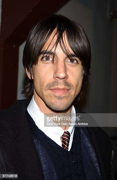 Anthony Kiedis of the Red Hot Chili Pepper at designer Zac Posen's fashion show at Angel Orensanz Foundation during Fall Fashion Week 2002