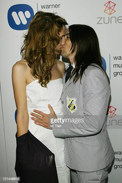 Anthony Kiedis of the Red Hot Chili Peppers and girlfriend Heather