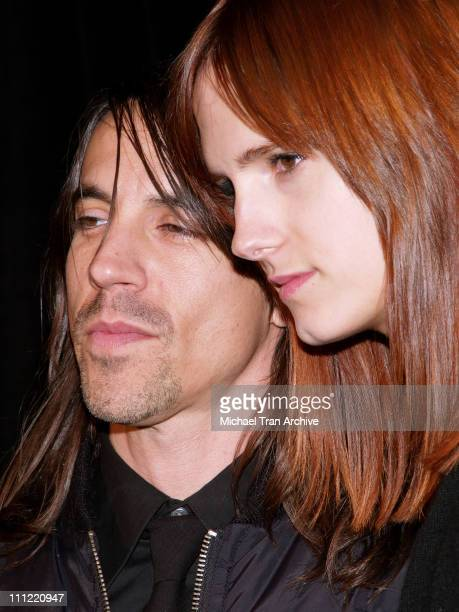 Anthony Kiedis of the Red Hot Chili Peppers and his wife Heather