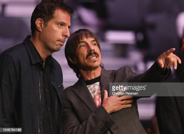 Anthony Kiedis of the Red Hot Chili Peppers attends the UFC 229 event inside TMobile Arena on October 6 2018 in Las Vegas Nevada