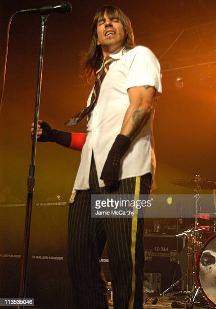 Anthony Kiedis of The Red Hot Chili Peppers during The Creative Coalition Benefit Gala for the First Amendment featuring The Red Hot Chili Peppers...