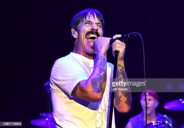 Anthony Kiedis of the Red Hot Chili Peppers performs at Malibu Love Sesh Benefit Concert for victims of the Malibu Fires at the Hollywood Palladium...