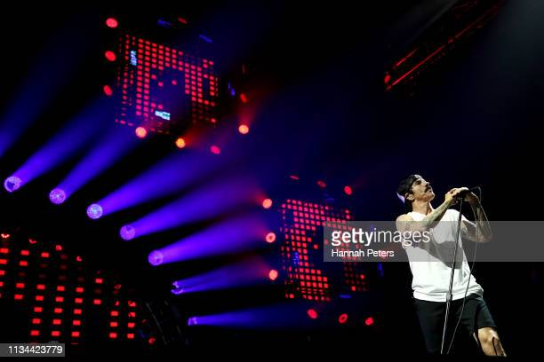Anthony Kiedis of the Red Hot Chili Peppers performs at Spark Arena on March 08 2019 in Auckland New Zealand