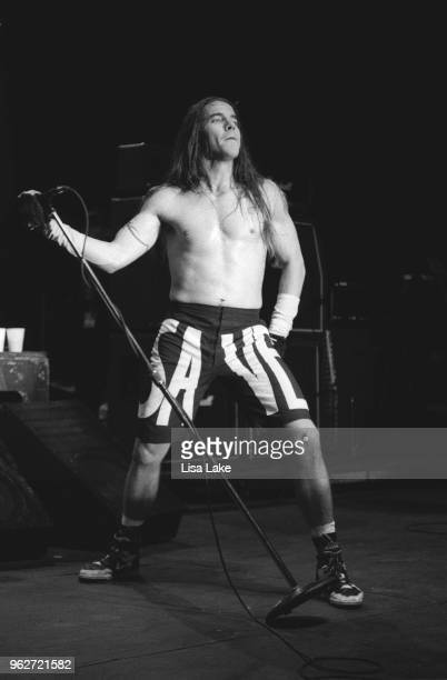 Anthony Kiedis of The Red Hot Chili Peppers performs during Lollapalooza at Waterloo Village in Stanhope New Jersey on August 11 1992