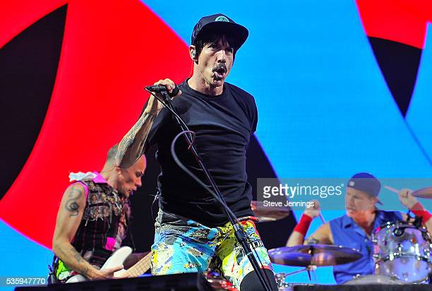 Anthony Kiedis of the Red Hot Chili Peppers performs on Day 3 of the 4th Annual BottleRock Napa Music Festival at Napa Valley Expo on May 29 2016 in...