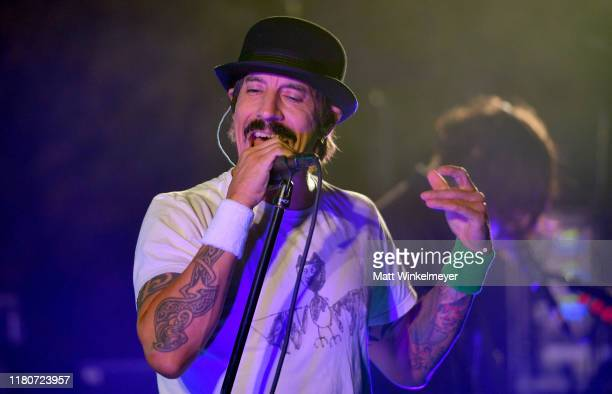 Anthony Kiedis of The Red Hot Chili Peppers performs onstage during Oceana's Fourth Annual Rock Under The Stars Featuring The Red Hot Chili Peppers...