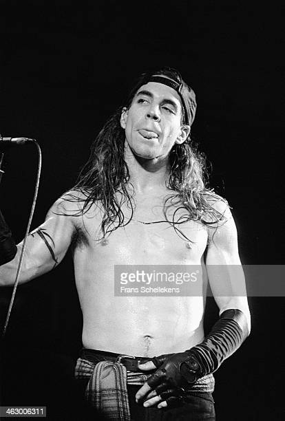 Anthony Kiedis vocal perform with the Red Hot Chilli Peppers at the Paradiso in Amsterdam the Netherlands on 17th February 1990