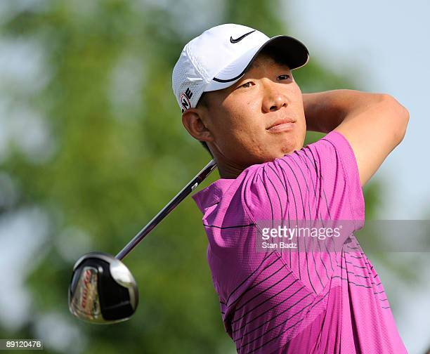 Anthony Kim hits to the 17th fairway during the RBC Canadian Open's Mike Weir Charity Classic Pro-Am at Glen Abbey Golf Club on July 20, 2009 in...