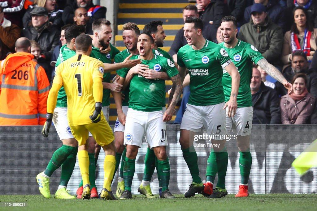 Crystal Palace v Brighton & Hove Albion - Premier League : Foto jornalística