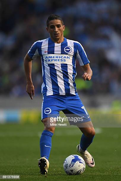 Anthony Knockaert of Brighton Hove Albion in action during the Sky Bet Championship match between Brighton Hove Albion and Rotherham at Amex Stadium...