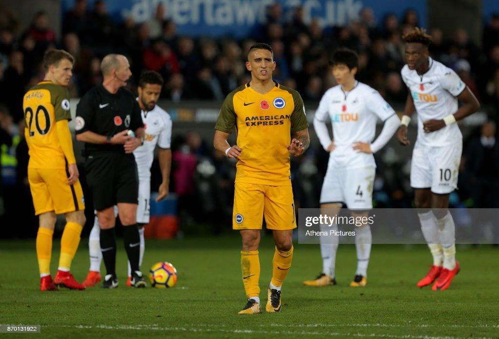 Swansea City v Brighton and Hove Albion - Premier League : News Photo