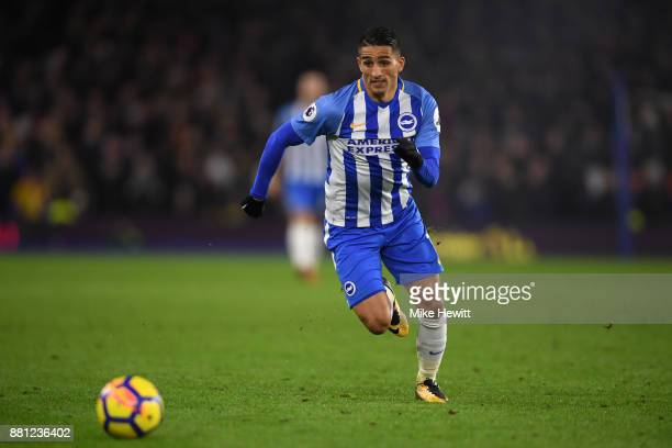 Anthony Knockaert of Brighton in action during the Premier League match between Brighton and Hove Albion and Crystal Palace at Amex Stadium on...