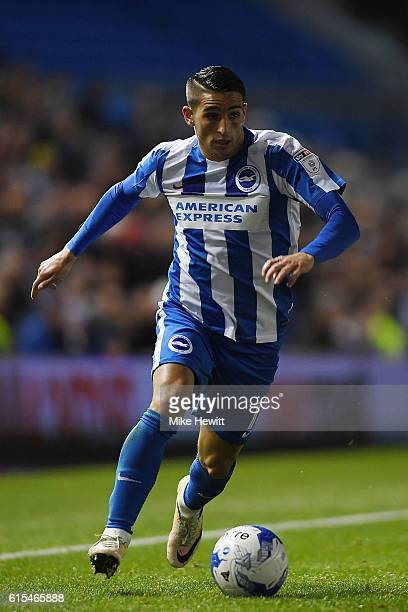 Anthony Knockaert of Brighton in action during the Sky Bet Championship match between Brighton Hove Albion and Wolverhampton Wanderers at Amex...