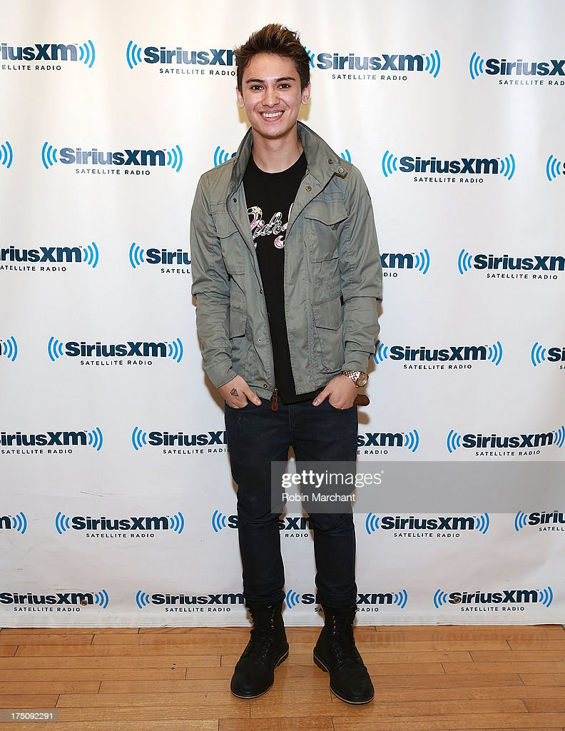 Anthony Ladao of Midnight Red visits at SiriusXM Studios on July 31, 2013 in New York City.