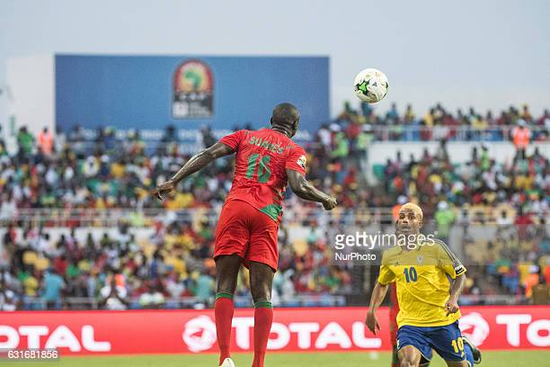 Anthony Léandre Mfa Mezui defending against Bocundji Ca during the second half at African Cup of Nations 2017 between Gabon and GuineaBissau at Stade...