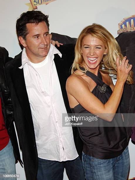 Anthony LaPaglia and Poppy Montgomery during Warner Bros Television and Warner Home Video Celebrate 50 Years Of Quality TV Arrivals at Warner Bros...