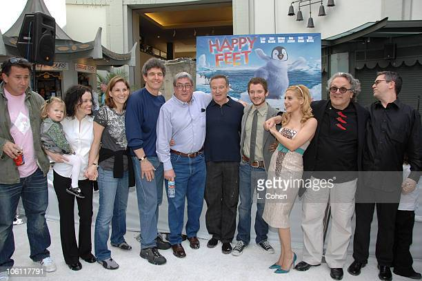 Anthony LaPaglia Courtney Bellanti Dana Goldberg Alan Horn Bruce Berman Robin Williams Elijah Wood Brittany Murphy George Miller and John Powell