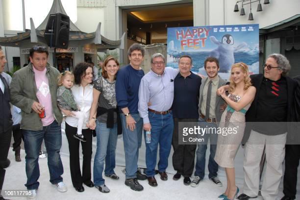 Anthony LaPaglia Courtney Bellanti Dana Goldberg Alan Horn Bruce Berman Robin Williams Elijah Wood Brittany Murphy and George Miller