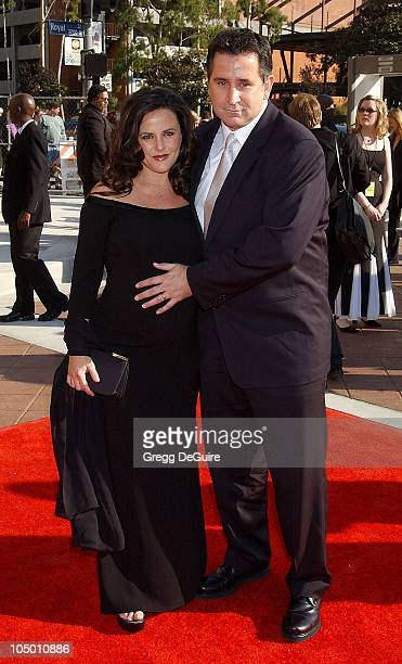 Anthony LaPaglia Gia Carides during 2002 Creative Arts Emmy Awards Arrivals at Shrine Auditorium in Los Angeles California United States