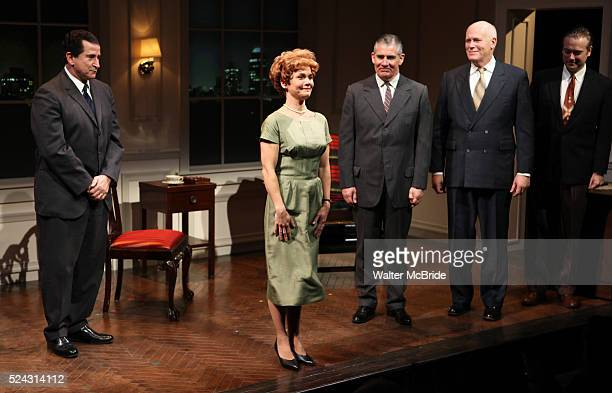 Anthony LaPaglia Kathryn Erbe Kevin O'Rourke John Ottavino Mark Shanahan during the Curtain Call for the Opening Celebration of 'Checkers' at the...