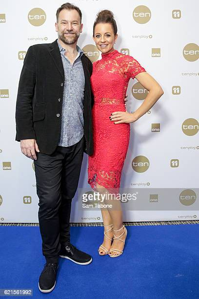 Anthony 'Lehmo' Lehmann and Carrie Bickmore during Network Ten 2017 Upfronts on November 7 2016 in Melbourne Australia