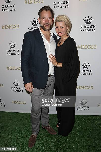Anthony 'Lehmo' Lehmann and wife Kelly Lehmann arrive for Crown's IMG@23 Tennis Players' Party at Crown Entertainment Complex on January 18, 2015 in...