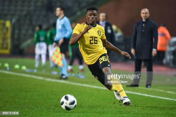 Anthony Limbombe of Belgium during the International friendly match between Belgium and Saudi Arabia on March 27 2018 in Brussel Belgium