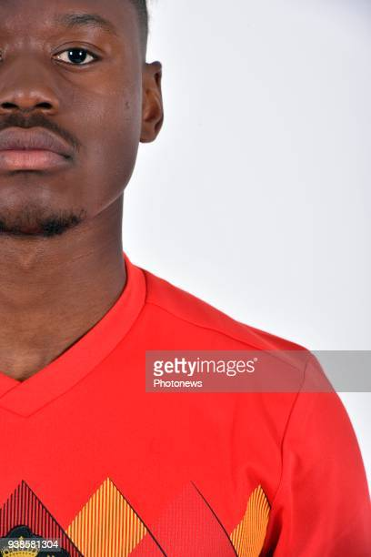 Anthony Limbombe of Belgium pictured during a photo session of the National Soccer Team of Belgium prior to the World Cup 2018 and part of the...