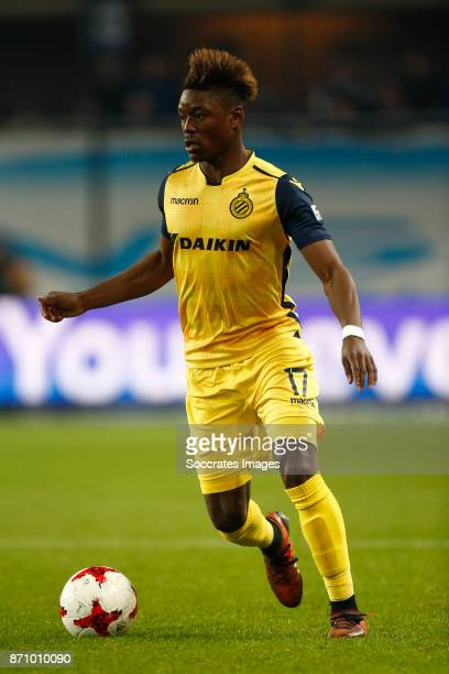 Anthony Limbombe of Club Brugge during the Belgium Pro League match between Anderlecht v Club Brugge at the Constant Vanden Stock Stadium on November...