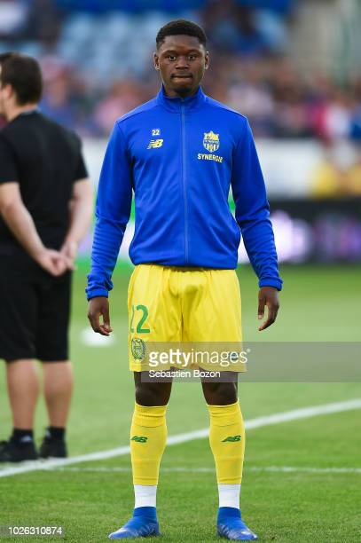 Anthony Limbombe of Nantes during the French Ligue 1 match between Strasbourg and Nantes on September 1 2018 in Strasbourg France