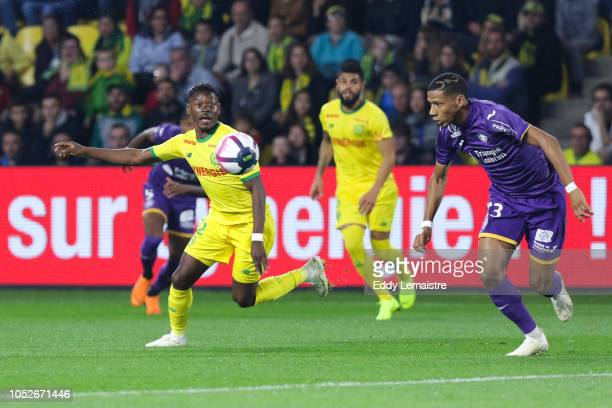Anthony Limbombe of Nantes during the Ligue 1 match between FC Nantes and Toulouse FC at Stade de la Beaujoire on October 20 2018 in Nantes France