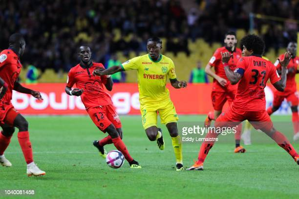 Anthony Limbombe of Nantes during the Ligue 1 match between Nantes and Nice at Stade de la Beaujoire on September 25 2018 in Nantes France