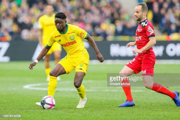 Anthony Limbombe of Nantes during the Ligue 1 match between Nantes and Guingamp at Stade de la Beaujoire on November 4 2018 in Nantes France