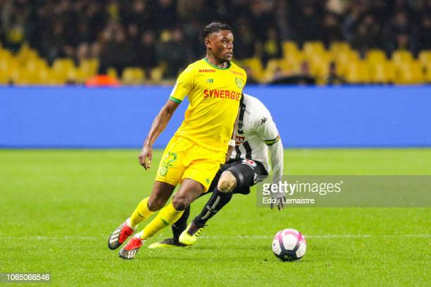 Anthony Limbombe of Nantes during the Ligue 1 match between Nantes and Angers at Stade de la Beaujoire on November 24 2018 in Nantes France