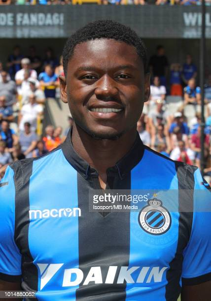 Anthony Limbombe pictured during the 2018 2019 season photo shoot of Club Brugge on July 8 2018 in Bruges Belgium