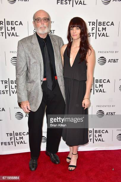 Anthony Loder and Britt Noelle attend the 2017 Tribeca Film Festival 'Bombshell The Hedy Lamarr Story' screening at SVA Theatre on April 23 2017 in...